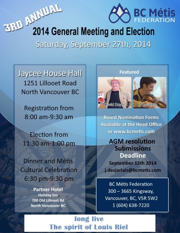 BCMF AGM 2014 Poster