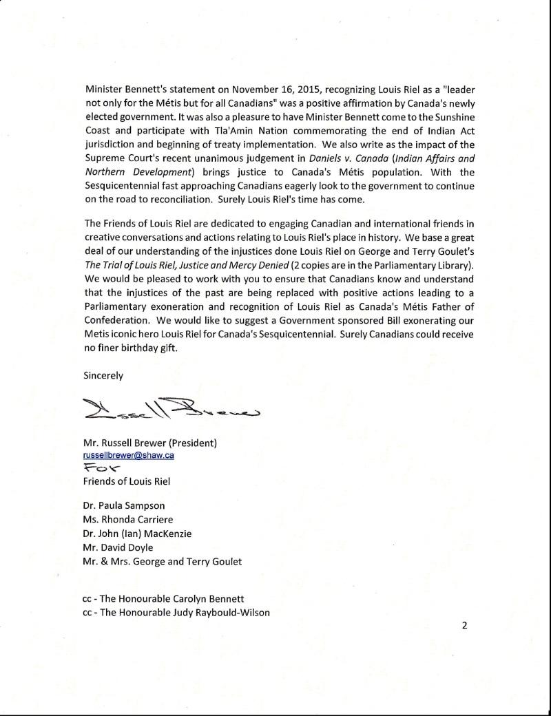 FOLR PM Letter p 2. 2016